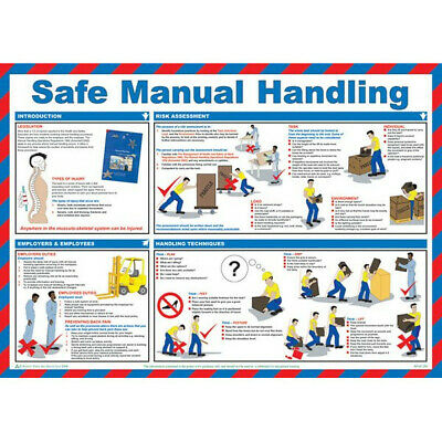 SAFETY FIRST AID Safe Manual Handling Poster - 59cm x 42cm A597T