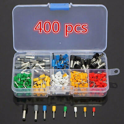 400PCS Wire Copper Crimp Connector Insulated Cord Pin End Terminal Kit EIX