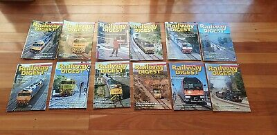 Railway Digest Magazines - 12 Issues - January - December 2018