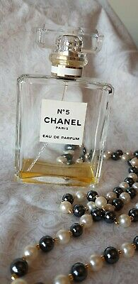 Niche  Chanel No 5  Nearly Empty 100ml Perfume Bottle. APPROX 10ml left.