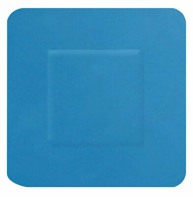 DETECTABLE SQUARE PLASTERS 100 BLUE (Pack of 100)