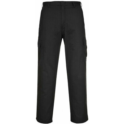 PORTWEST Combat Trousers - Black - 28in. Waist (Regular) C701BKR28