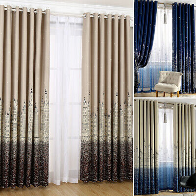 Soft Drape Thermal Blackout Curtains Ring Top Eyelet Ready Made Panel Curtain