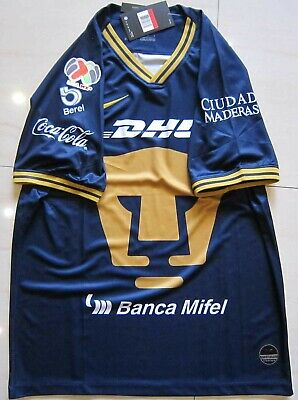 2019-20 Pumas UNAM Second Away Soccer Jersey T-shirt And the LIGA MX patch