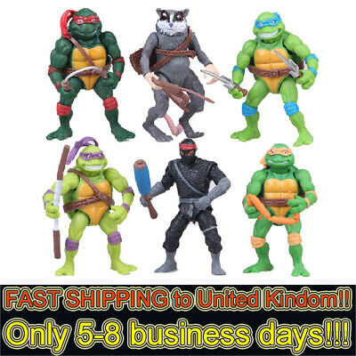 TMNT Teenage Mutant Ninja Turtles 6 PCS Action Figure Collection Toys Kids Gifts