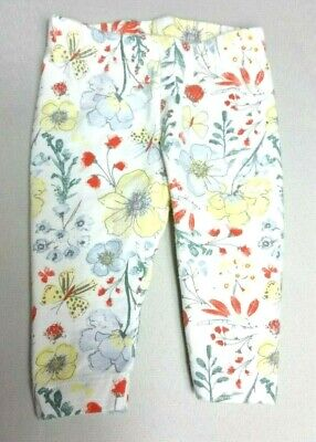 NUTMEG Baby GIRLS LEGGINGS trousers Newborn upto 1 month 10lbs floral