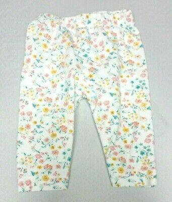NUTMEG Baby GIRLS LEGGINGS trousers Newborn upto 1 month 10lbs White floral