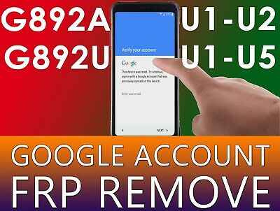 Google Account Lock Removal Reset FRP Samsung Galaxy S8 Active