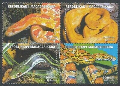 [36037] SUP||**/Mnh || - 1999 - Animaux, Serpents, En bloc de 4