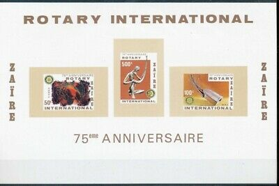 [36193] SUP||**/Mnh || - NN- Zaire 1980 - BL 44A - ND/Imperf - Rotary Internatio