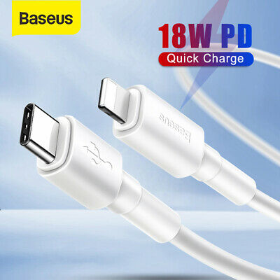 Baseus PD Charger Cable USB Type C to Lightning Adapter Lead For iPhone 11 Pro