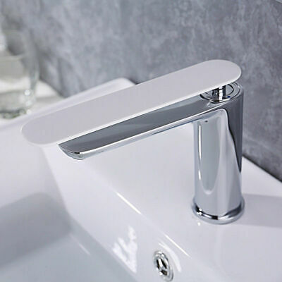 Contemporary Brass 1 Hole Bathroom Vanity Washing Sink Faucet with Single Handle