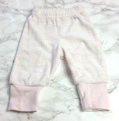 Baby GIRLS TROUSERS NEWBORN Pink Stripe 10 lbs Velour