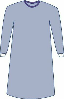 CASE- 20pcs Medline Sterile Non-Reinforced Sirus Surgical Gowns w/ Set-In Sleeve