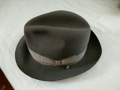 fbddf01bd7c6d1 Vintage Borsalino Fedora Size 7 with Trolley Cord--EXCELLENT CONDITION