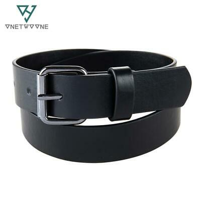 High Grade Children PU Waist Belts Boys Students Jeans pu Leather Belt Strap Bla