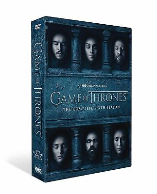 Game of Thrones Season 6 DVD 5 Disc BOXSET and Region 2 2016 Brand NEW Sealed