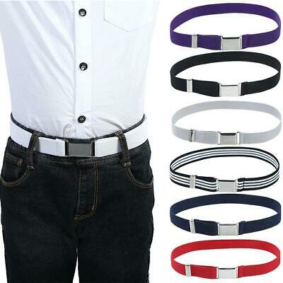 Elastic Canvas Belts for Boys Girls Striped Stretch Western Strap Belt Kids Adju