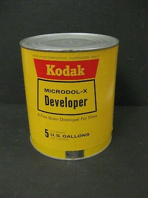 KODAK Microdol- X film developer 5 gallon can vintage but new old stock unopened