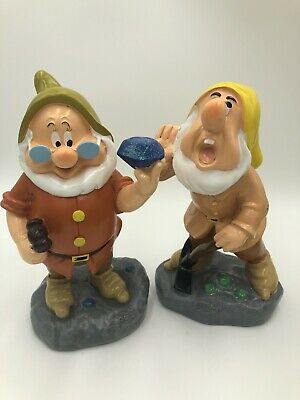 Disney SNEEZY DOC DWARF SET Garden Statue Gnome Snow White 7 Dwarfs NEW!! 2019
