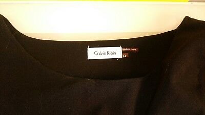 Calvin Klein Women's black form fitting dress Size 14 good condition