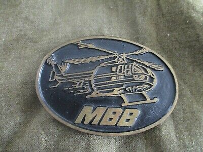 Vintage MBB helicopter belt buckle by Dynabuckle of Provo Utah