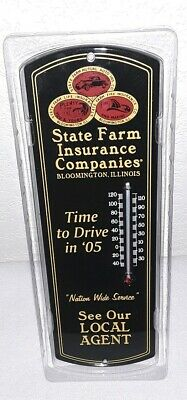 2005 State Farm Insurance Office Advertising Steel Thermometer 12""