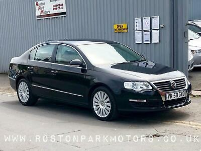 2008 Volkswagen Passat 2.0 Highline TDI CR DPF 4dr black diesel leather Saloon D