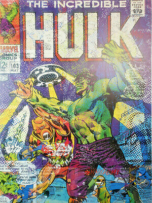 THE INCREDIBLE HULK Comic Jack Vitaly Ltd Print POP ART Marvel Avengers Stan Lee