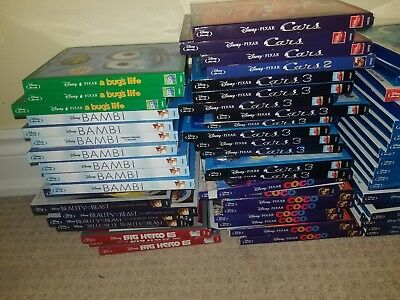 Walt Disney & Disney Pixar Blu Ray Movies Toy Story Cinderella Dumbo Lion King