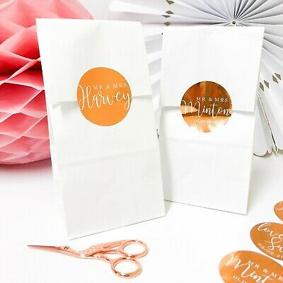 Personalised Sweet Bags Candy Cart Wedding Favour Birthday Hen Party bag