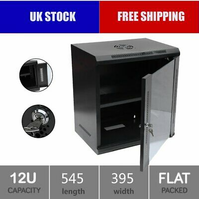 """12U 19""""600mm Black Wall Cabinet Network/Data/Rack For Patch Panel,PDU&AN CR"""