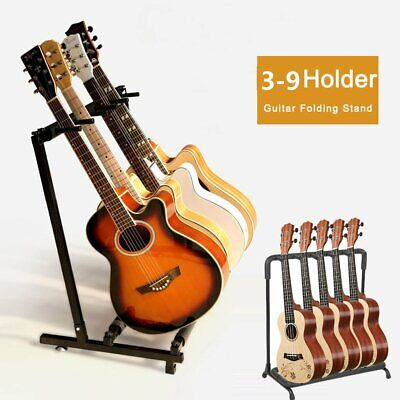 3/5/7/9 Way Multi Guitar Stand Foldable Acoustic Electric Bass Guitar Rack CR