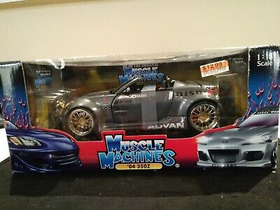 MUSCLE MACHINES SS Tuner Gray 2004 Nissan 350Z 1:18