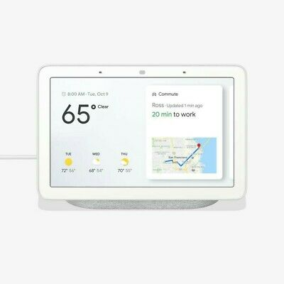 Brand New Google Home Hub Smart Speaker with Google Assistant GA00516-US Chalk