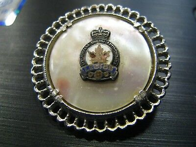 Vintage Royal Canadian Legion Mother Of Pearl Pin Brooch