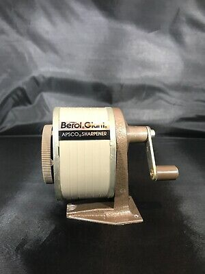Vintage 6 Hole Berol Giant Apsco Pencil Sharpener Wall Desk Mount School Office