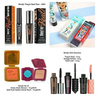 Benefit Set❤Hoola,PORE Primer,They're Real! Mascara,Gold Rush Blush - AUTHENTIC