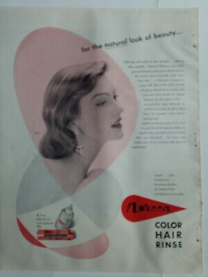 1955 womens Noreen color hair rinse vintage salon ad
