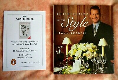 Entertaining With Style Paul Burrell SIGNED H/B Book ( Princess Diana Butler )