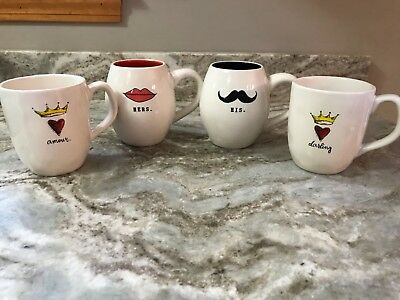 Large Coffee Mug Rae Dunn. His, Hers, Amour Or Darling You Choose New.