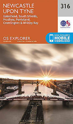 Newcastle Upon Tyne by Ordnance Survey (Sheet map, folded book, 2015)