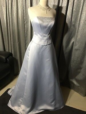 Size 10 Ice Blue Bridal Formal Debutante Wedding Corset Dress NWT
