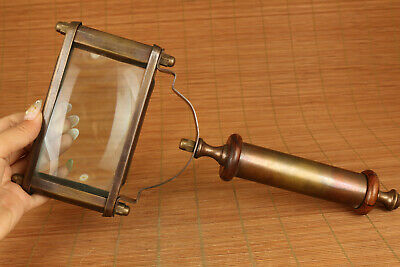 big chinese old copper vintage style magnifying glass
