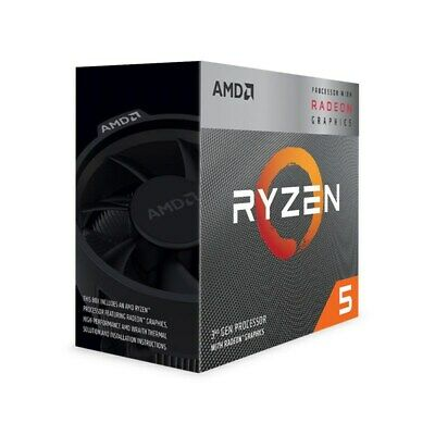 AMD Ryzen 5 3400G 4 Core Socket AM4 3.7GHz CPU Processor + Wraith Spire Cooler