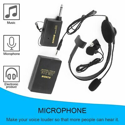 Stage Wireless Lavalier Lapel Headset Microphone System Mic FM Transmitter AU