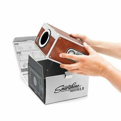 Mini Portable Cardboard Smart Phone Projector for Home Theater Projector AU