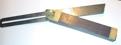 """Ultra Rare Tool: """"C G Siewers Rosewood & Brass Bevel (E W Carpenter's Son In Law"""