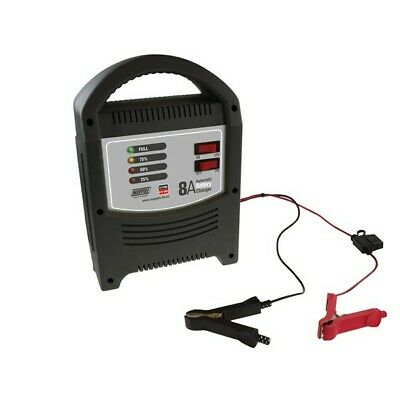 MAYPOLE Battery Charger 8A - 6V/12V - LED Automatic MP7108