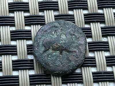 "Magnesia Ad Maendrum, Ionia 350-190Bc Ae15 ""Horseman & Bull"" Ancient Greek Coin"